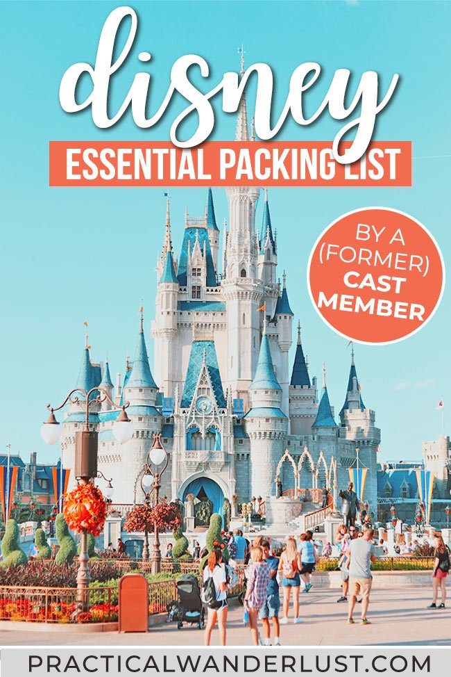 What to pack for Disney World and Disneyland: the ultimate Disney packing list for adults, created by a former Cast Member. Disney packing tips including what NOT to pack, snacks, essential gear, and what to bring to maximize Disney fun while staying on a budget! #Disney #travel