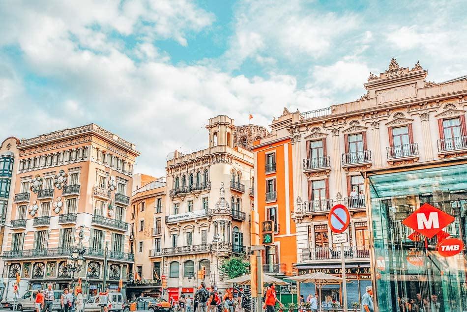 La Rambla in Barcelona, Spain
