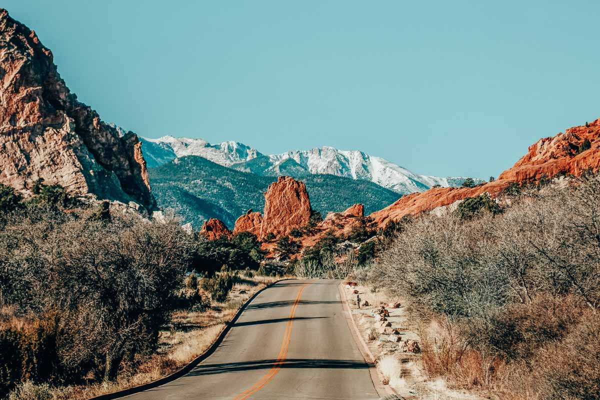 14 of the best weekend getaways in Colorado for a romantic road trip or just a quick adventure! Image shown is Garden of the Gods.