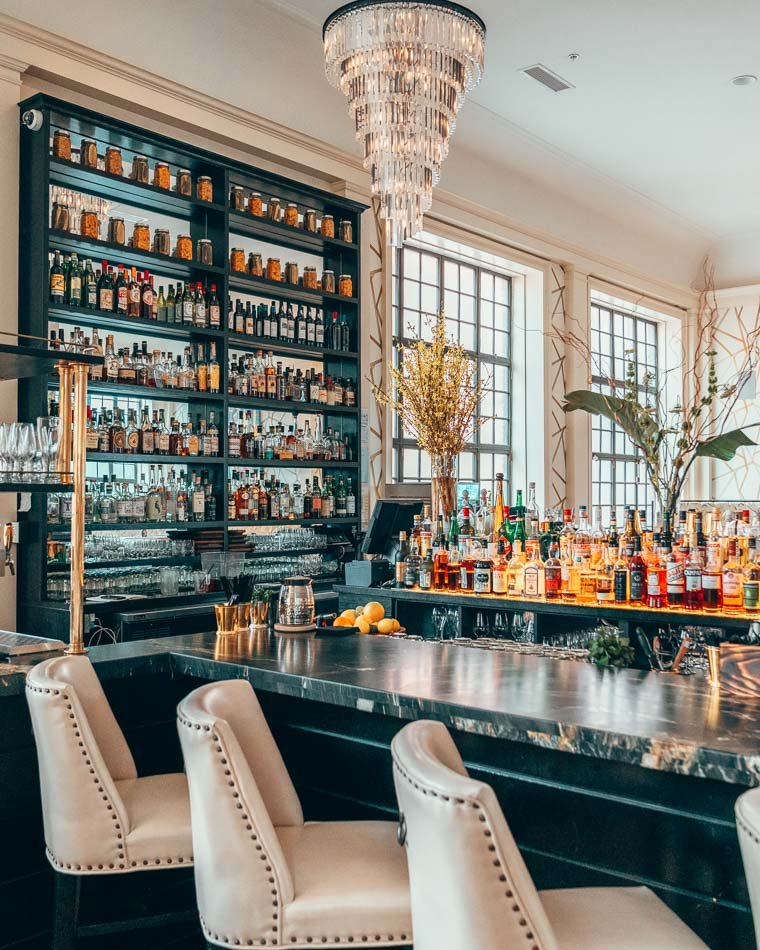 Bar at Husk Restaurant in Savannah, Georgia