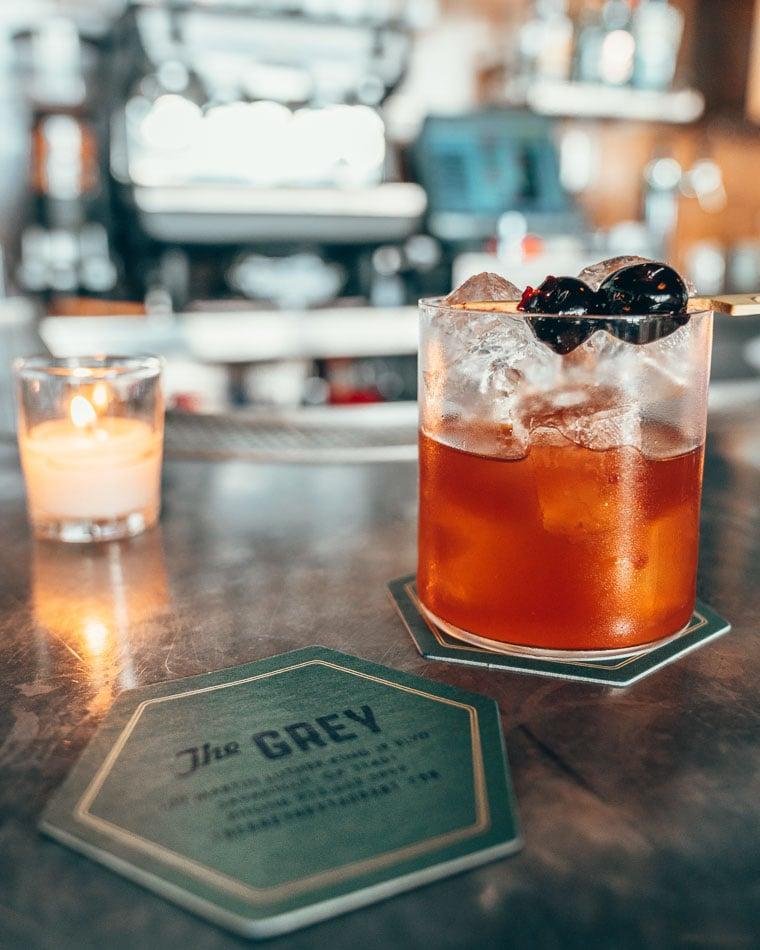 Cocktail at The Grey restaurant in Savannah, Georgia