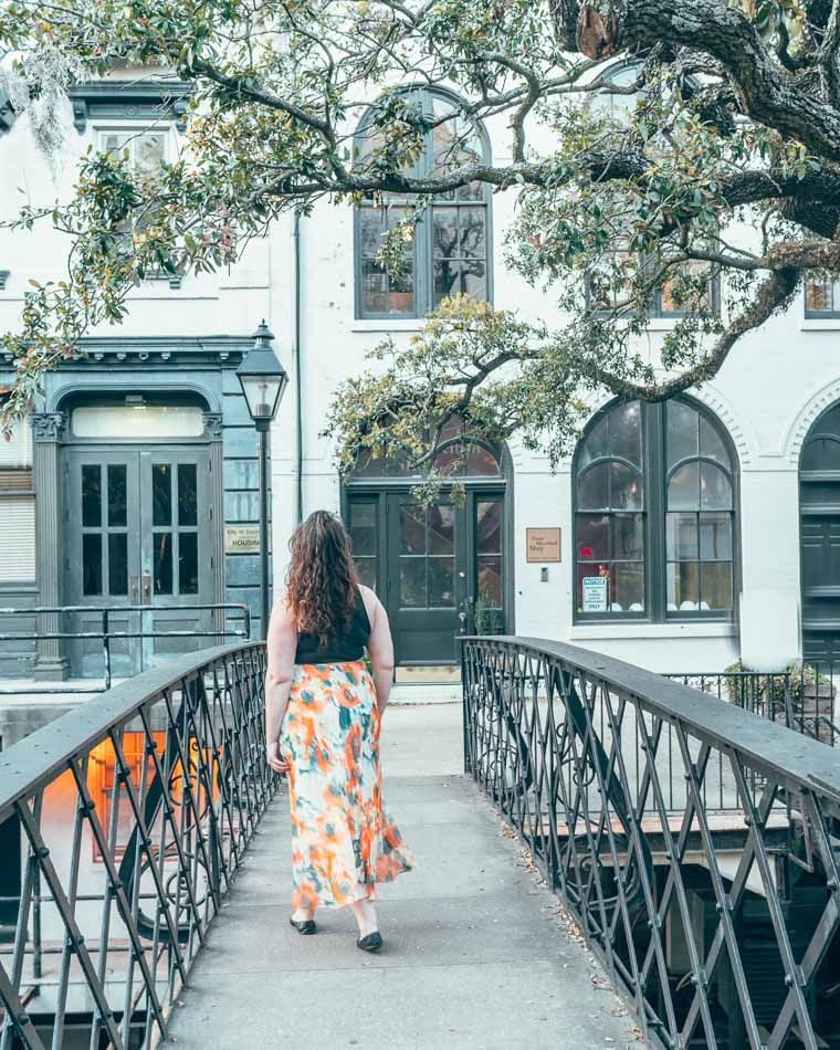 Factor's Walk behind River Street in Savannah, Georgia.