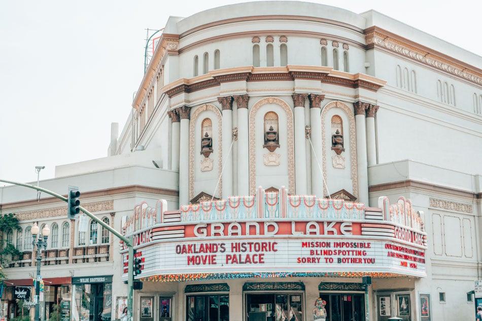 Grand Lake Theatre is one of 3 beautiful historic Art Deco movie theatres in Oakland, California!