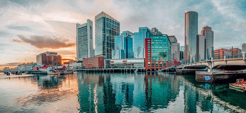 Sunset on the Boston Harbor