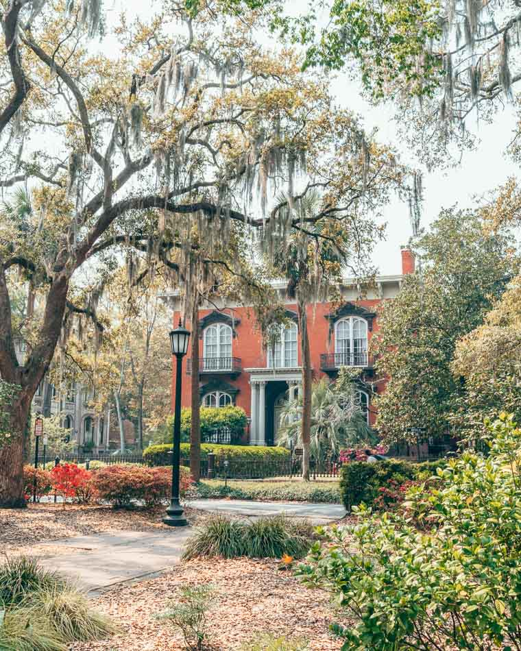 The Mercer House in Savannah, Georgia, made famous by Midnight in the Garden of Good and Evil.