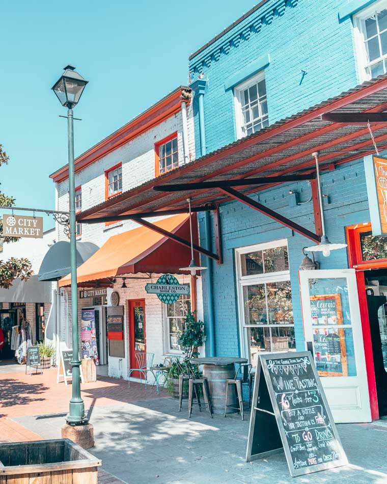 City Market in Savannah, Georgia