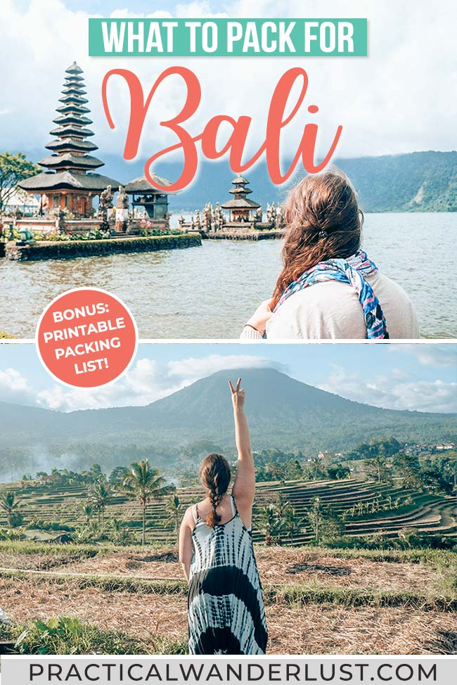 The essential Bali packing list for men & women. Here's what to pack for Bali and everything you need to plan your trip! #travel #bali
