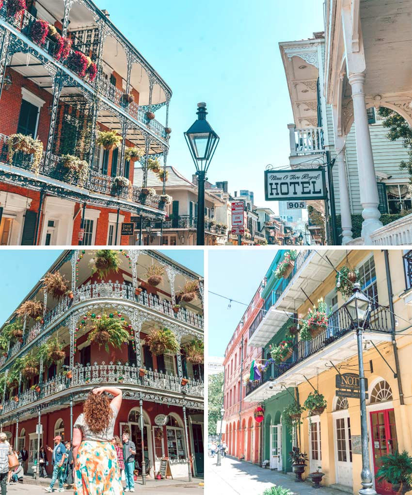 The French Quarter in New Orleans, Louisana.