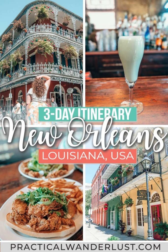 Beignets. Jazz music. Festivals. Ghosts. Gumbo. History. Culture. From Creole food to cocktails, here's the perfect 3-day New Orleans itinerary!