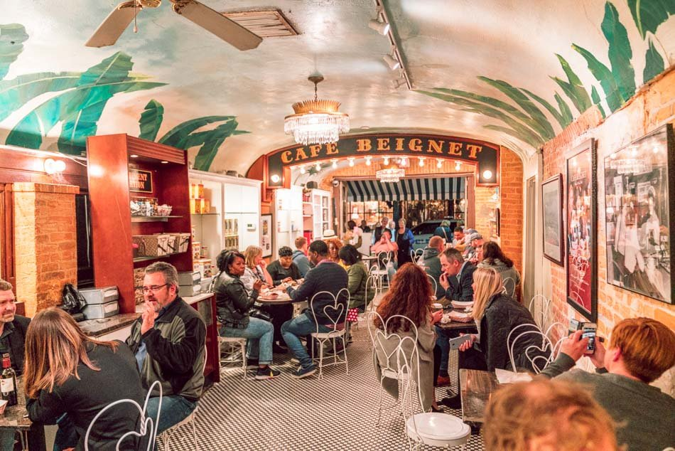 Cafe Beignet in New Orleans, Louisiana.
