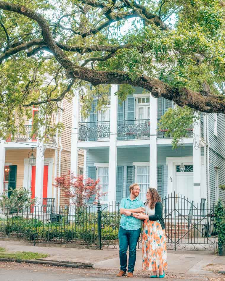 The Garden District in New Orleans, Louisana.