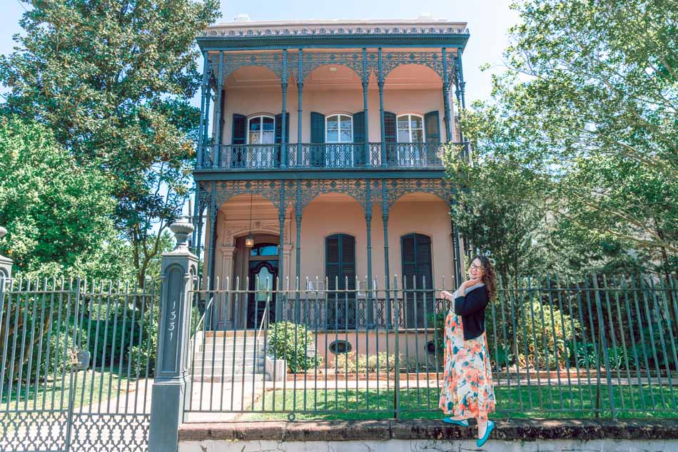 A haunted mansion in the New Orleans Garden District Neighborhood, rumored to have inspired Disney's Haunted Mansion ride.