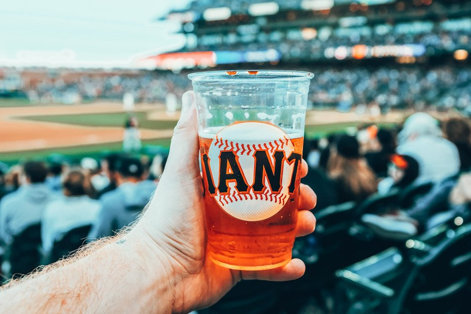 Beer at a giants game in San Francisco, California.