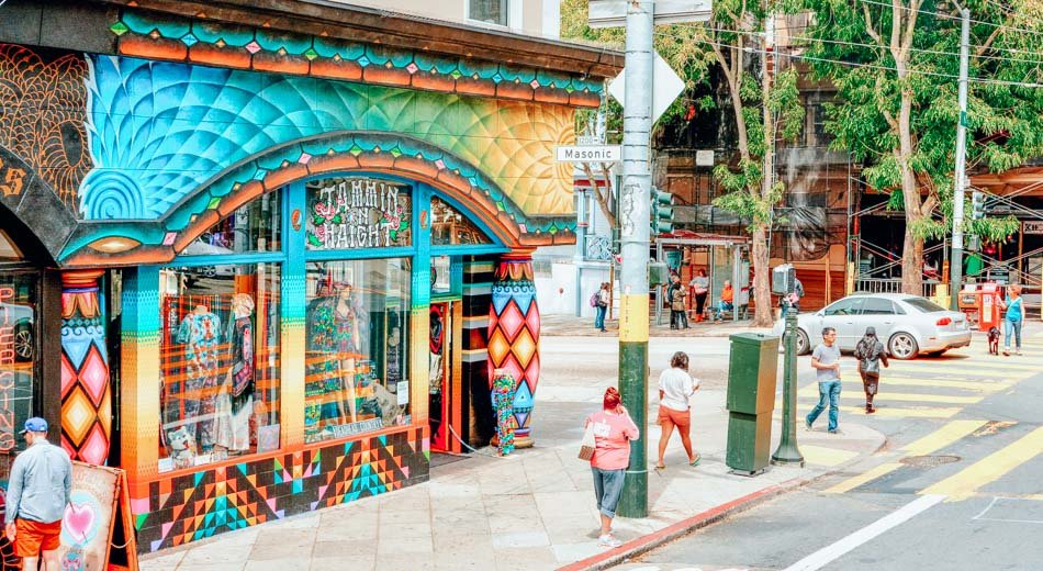A groovy shop in the Haight-Ashbury neighborhood.
