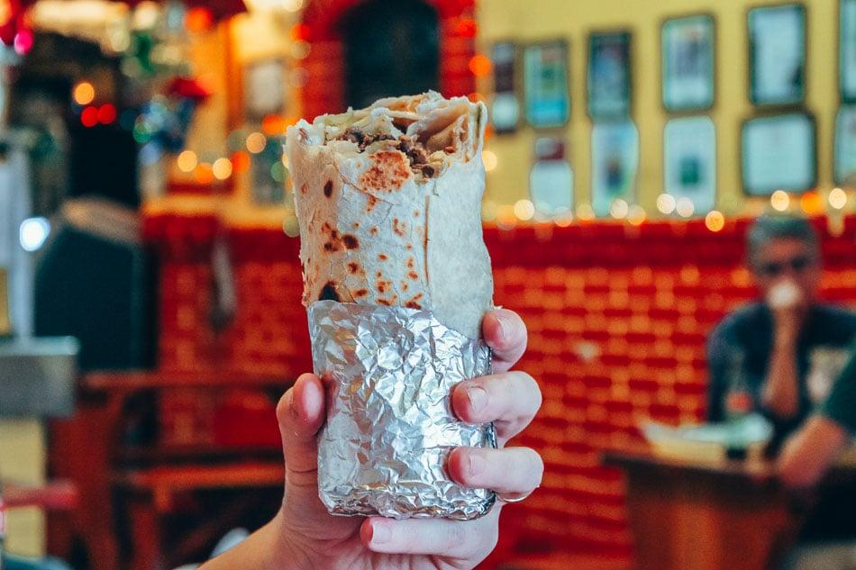 Mission Burrito in San Francisco, California.