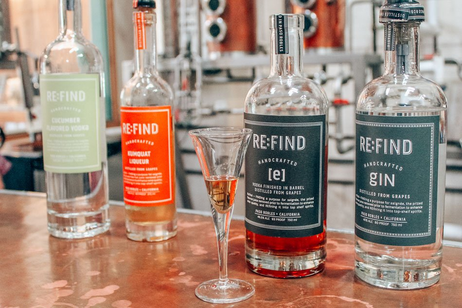 Re:Find craft-made spirits in a distillery in Paso Robles, California.