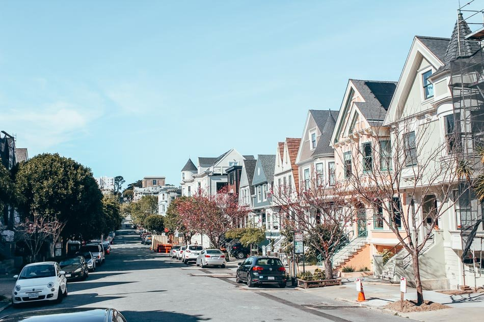 The Richmond neighborhood in San Francisco, California.