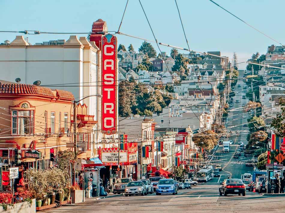 The Castro Neighborhood in San Francisco, California.