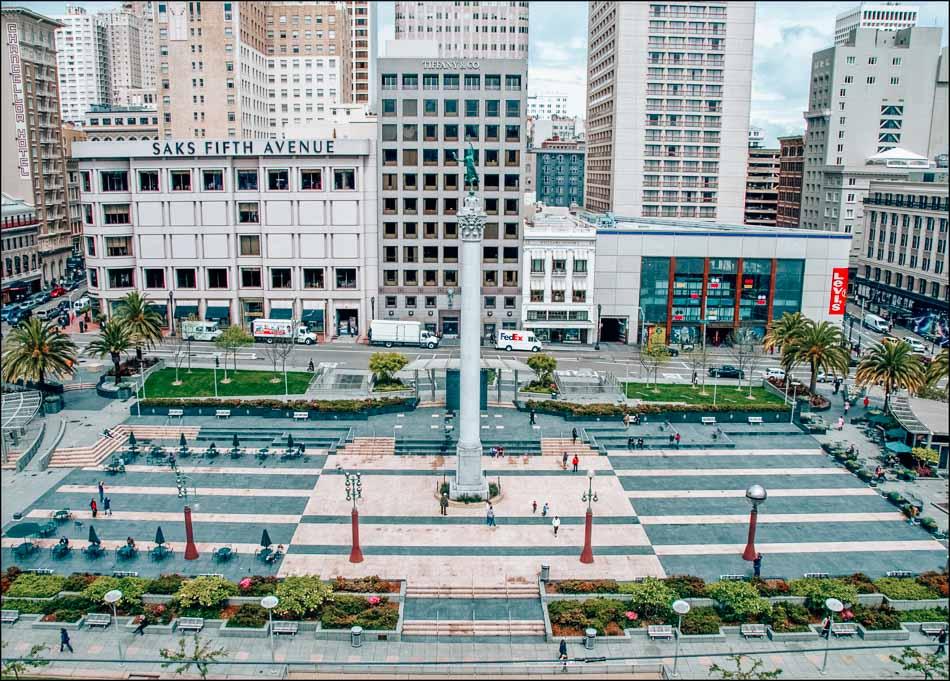 Union Square in San Francisco, California.