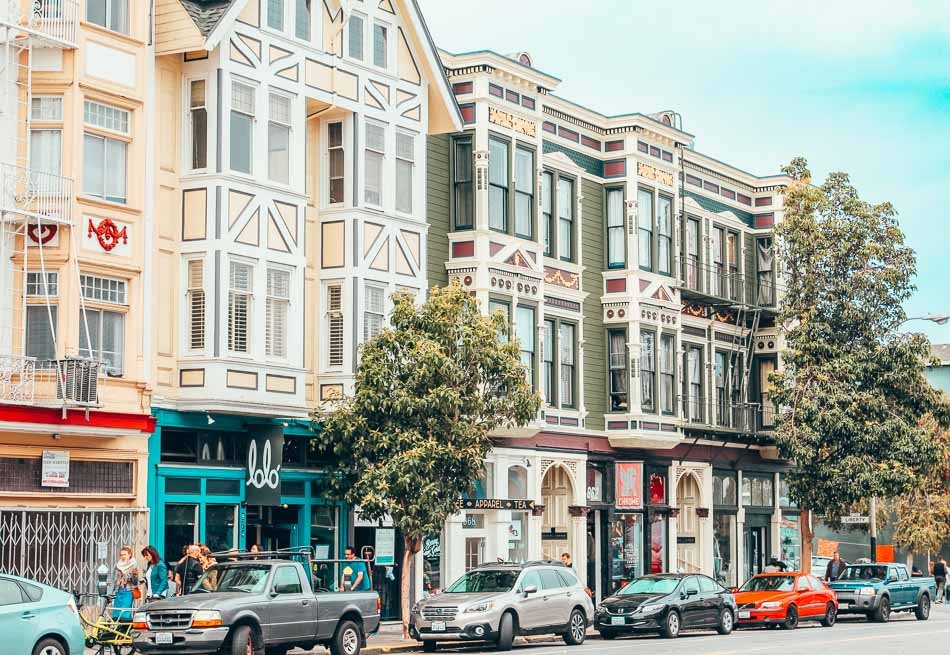 Valencia Street in the Mission District of San Francisco, California.