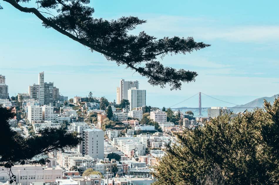 View of San Francisco, California.