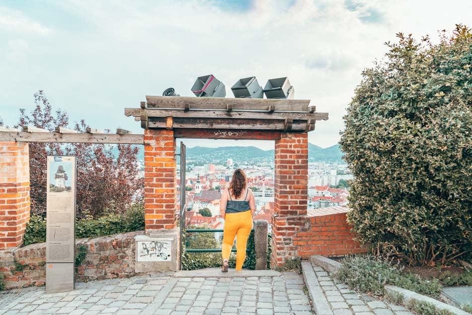 The view from Schlossberg in Graz, Austria.