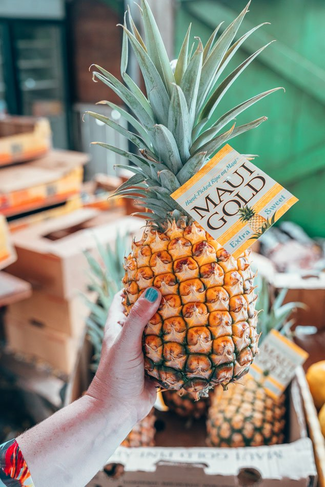 Maui Gold Pineapple in Maui, Hawaii, one of the best things to eat in Maui.