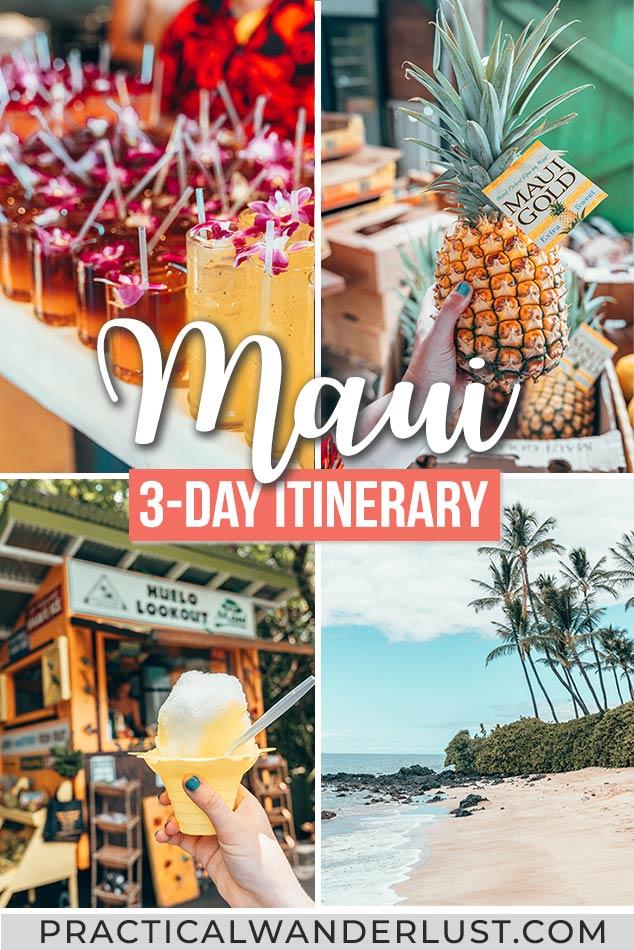 The perfect Maui Itinerary for 3 days in Maui! Includes a Maui packing list, travel tips for Maui, the Road to Hana, snorkeling in Molokini, a Hawaiian Luau, and more. All the best things to do in Maui on your next Hawaii vacation!