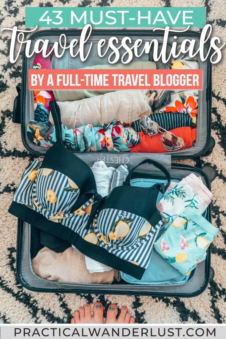 43 Must-have travel essentials by a full-time travel blogger. This ultimate travel packing list has everything from travel gear to camera gear - and yes, you can fit it all in a carry-on!