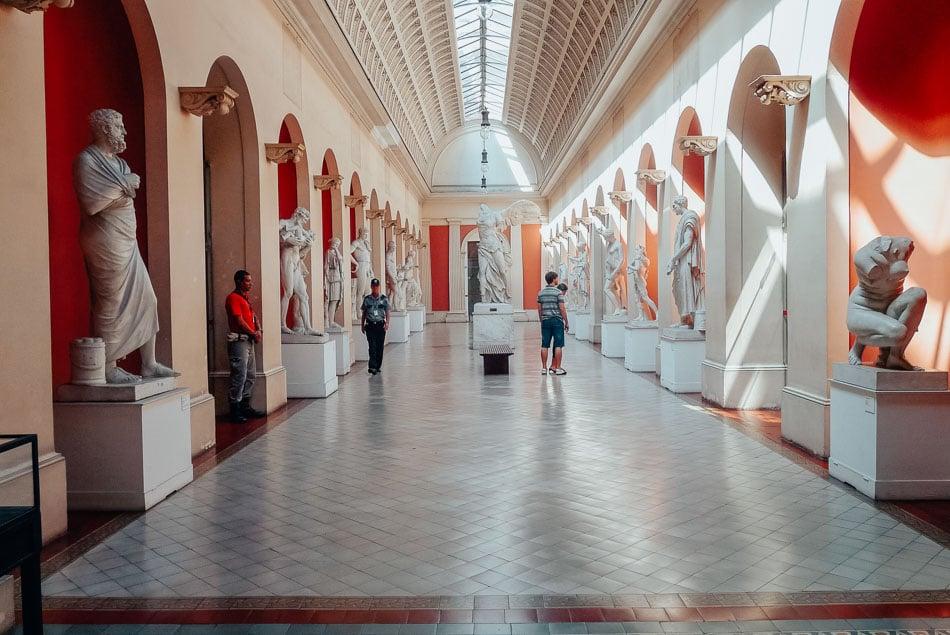 Inside the Museu Nacional de Bells Artes in Rio de Janeiro Brazil.