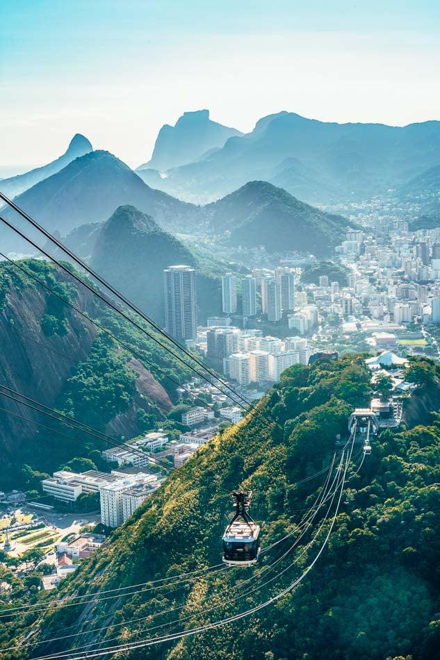 The Sugarloaf Cable Car in Rio de Janeiro, Brazil.