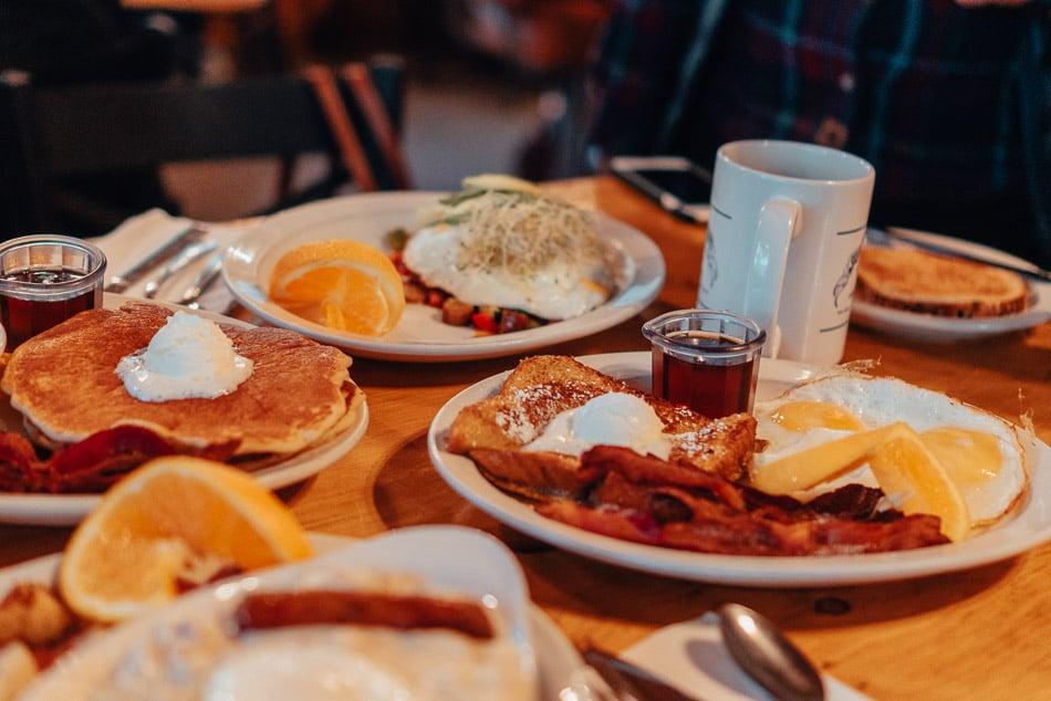 Breakfast at Silver Lake Resort on June Lake Loop in California.