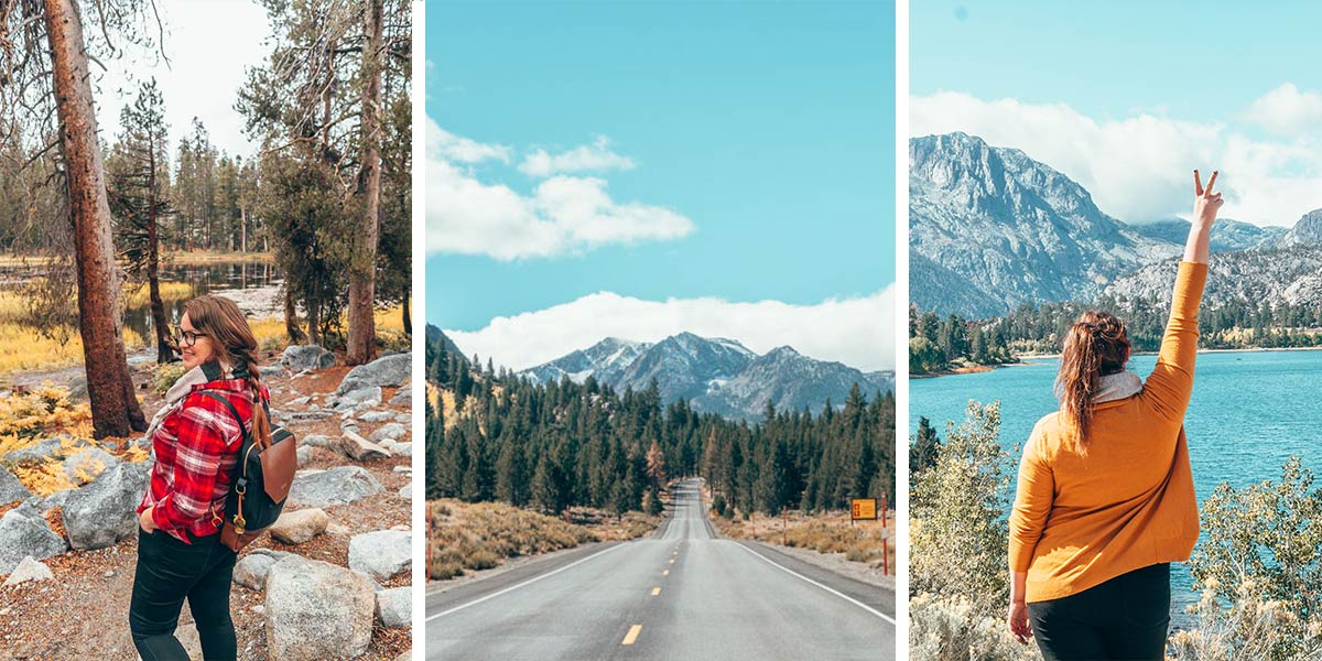 12 rustic and outdoorsy things to do in the charming mountain village of June Lake, California! This Eastern Sierras getaway has some of the best fall foliage in the state, stunning scenery, skiing, snowboarding, fishing, hiking, hot springs, and more.