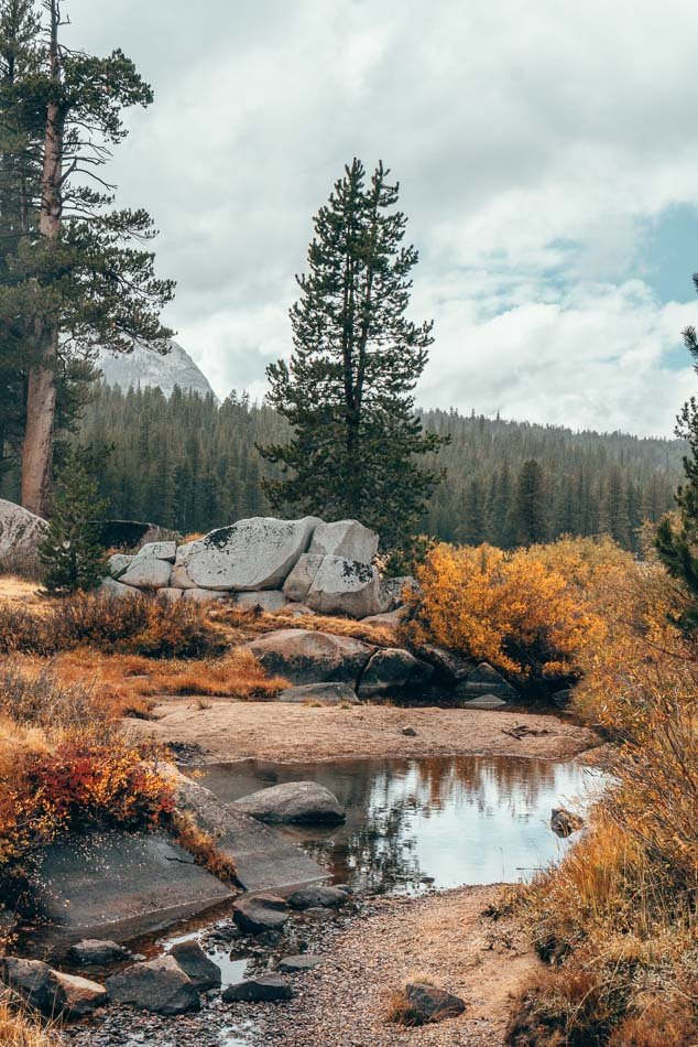 Yosemite National Park in the fall.