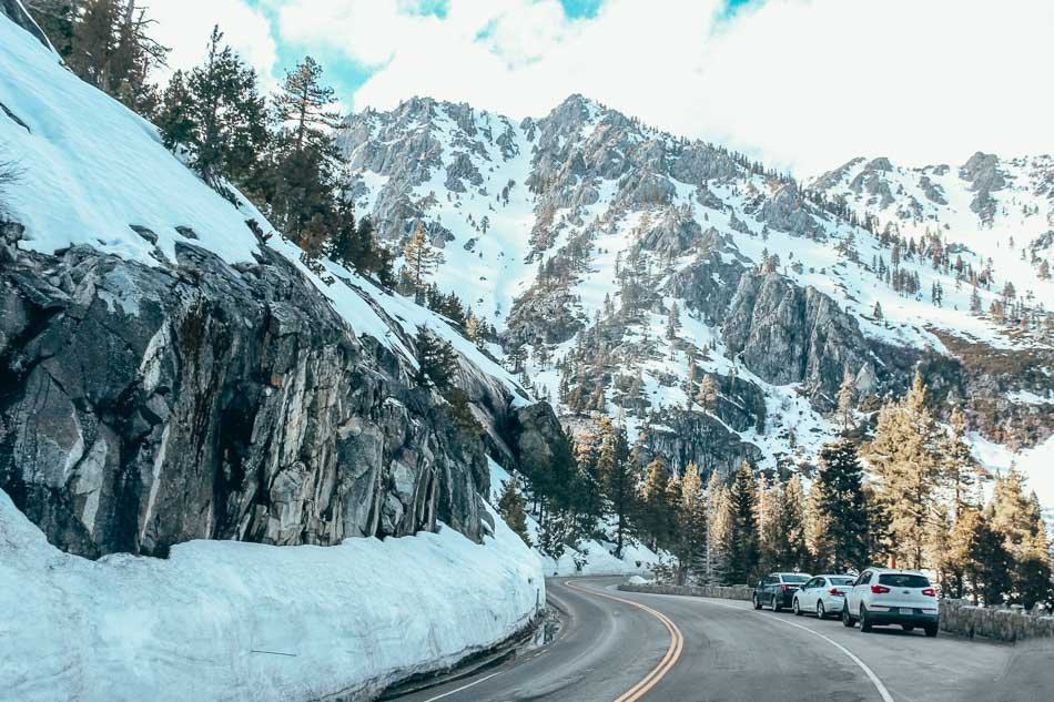 Stunning views on the drive between North & South Lake Tahoe in the winter!