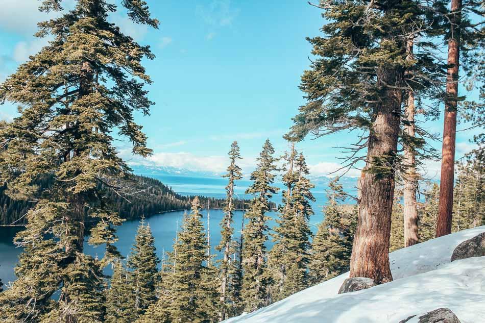 Emerald Bay in Lake Tahoe in the winter