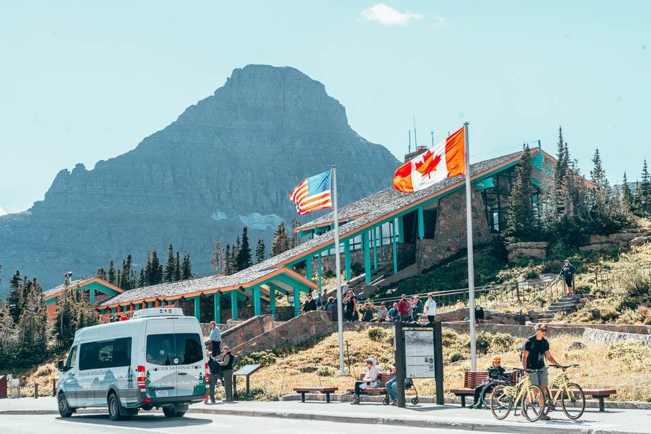 Logan Visitor Center in Glacier National Park, Montana.