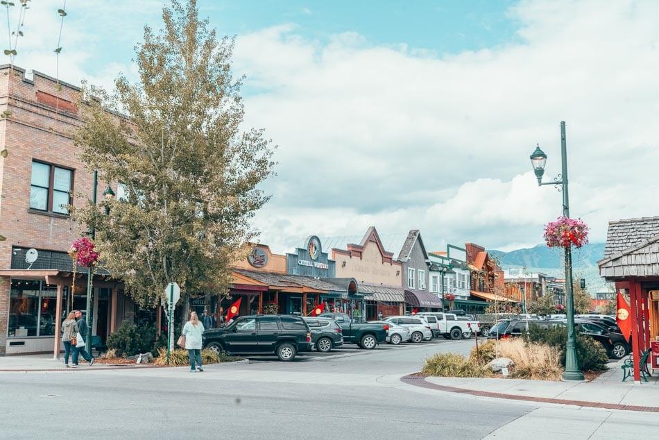 Charming downtown Whitefish, Montana.