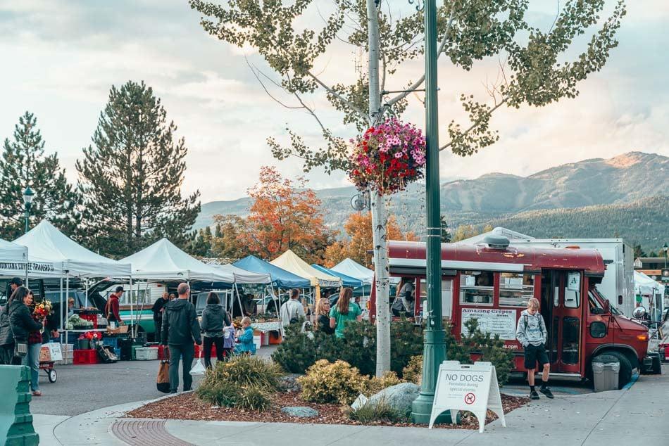 The Whitefish Farmer's Market in Whitefish, Montana.