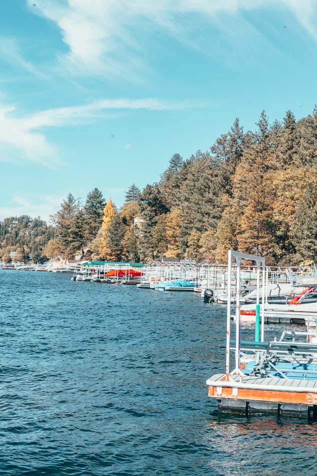 Lake Arrowhead, California in the fall.