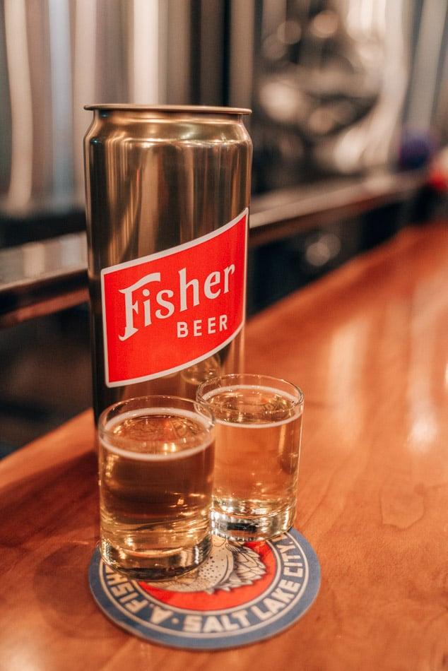 Beer at Fisher Brewery in Salt Lake City, Utah, one of the best breweries in Salt Lake City.