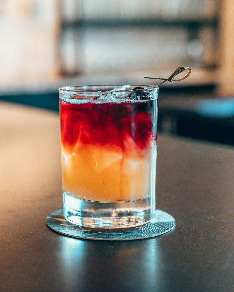 Cocktail at TC Brewing in Salt Lake City, Utah.