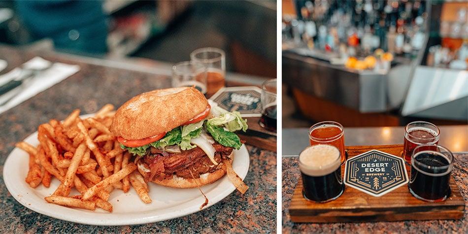 Burgers & beer at Desert Edge, one of the best brewpubs in Salt Lake City.
