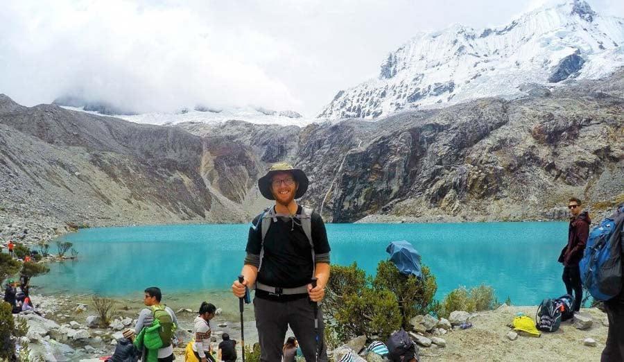 Reaching Laguna 69 in Peru