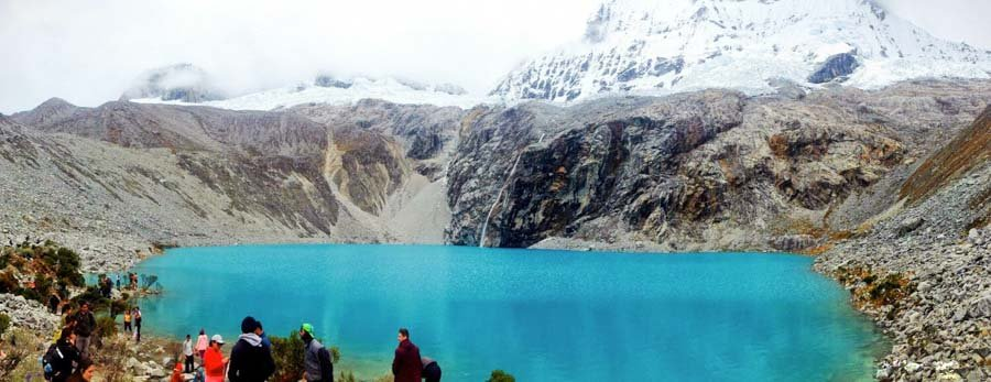 Stunning glacial lake Laguna 69