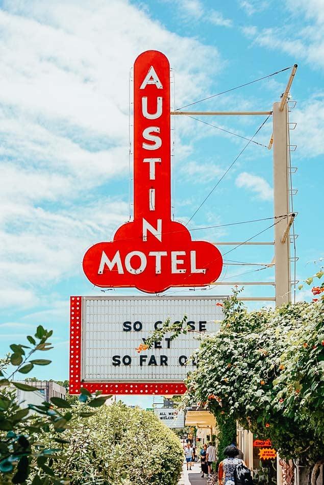 Outside of the Austin Motel.