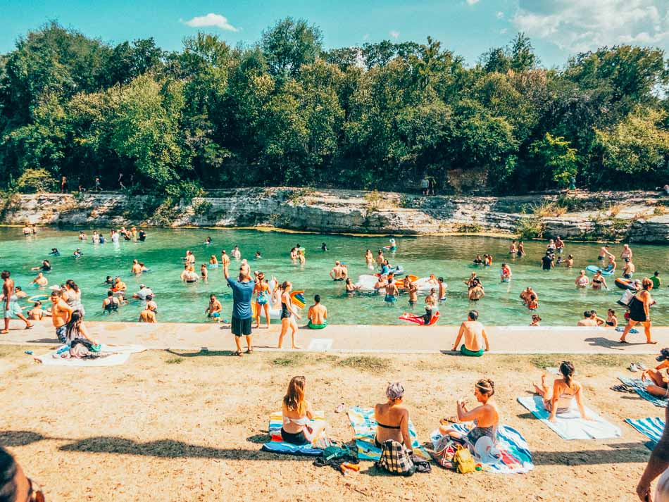 Barton Springs in Zilker Park, Austin, Texas.