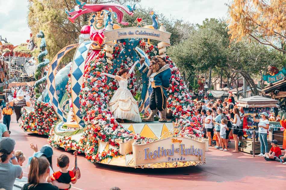 The 3 o'clock parade at Magic Kingdom in Walt Disney World Resort, Orlando,, Florida.