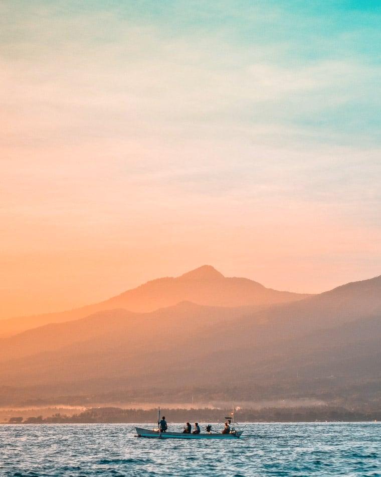 Bali, Indonesia at sunrise