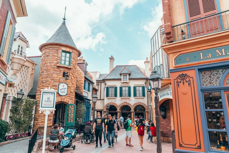 France Pavilion in Epcot at Walt Disney World.